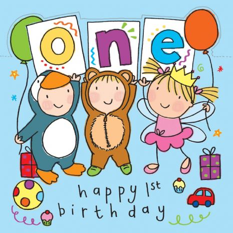 Age 1 Sparkly Birthday Card for Children TW425